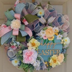 Happy Easter wreath by Wreathy Wonders